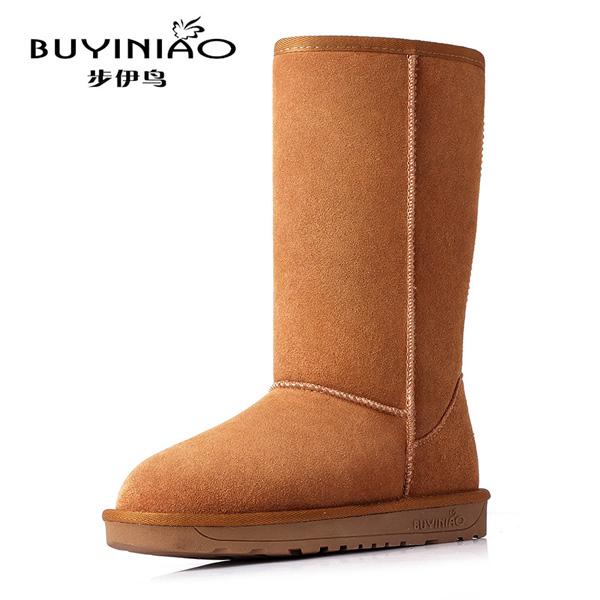 Women Winter Snow Boots Mid Calf Keep Warm Boots Flat Bottom Winter Boots