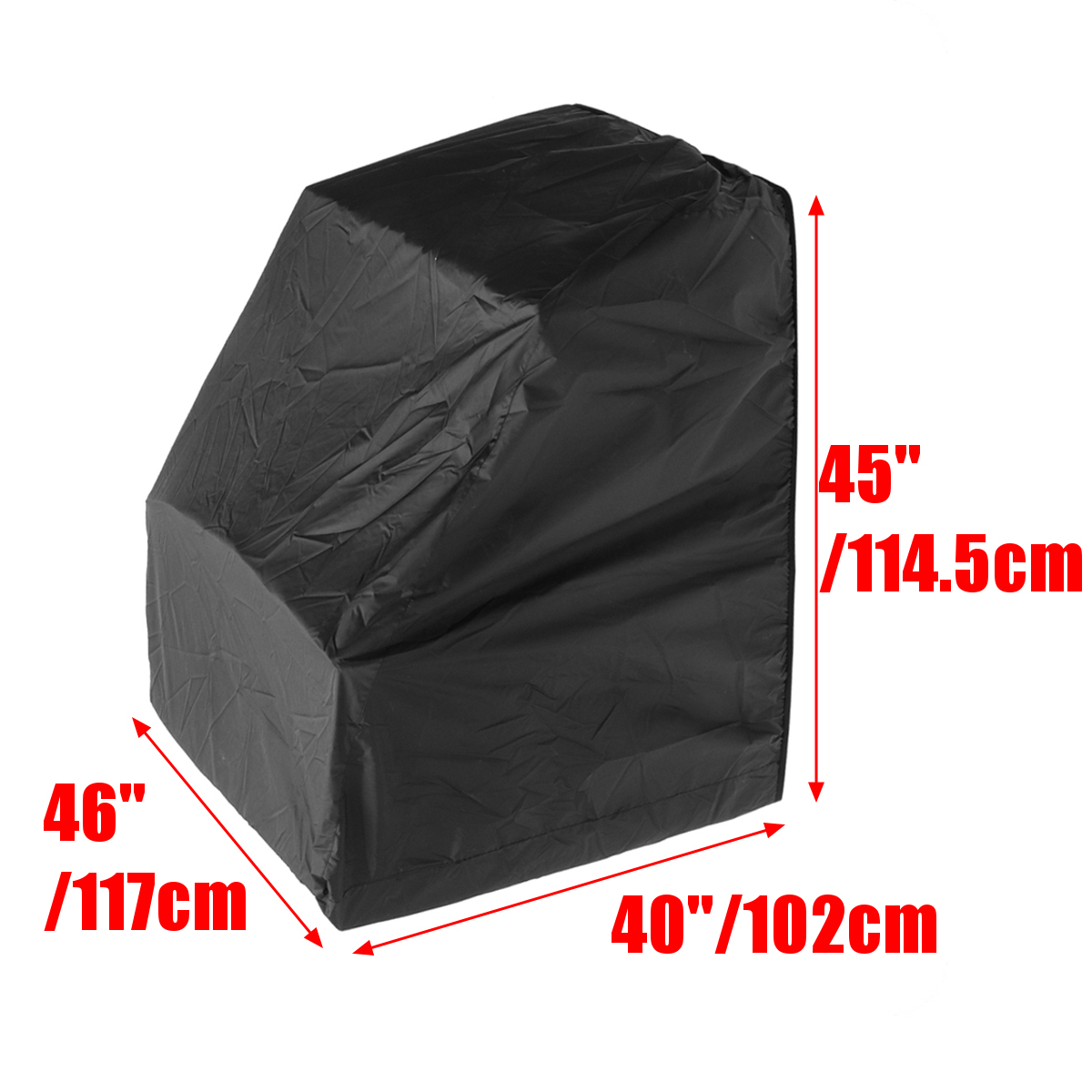 45x46x40inch Black Boat Center Console Cover For Boat Center Console Mildewproof