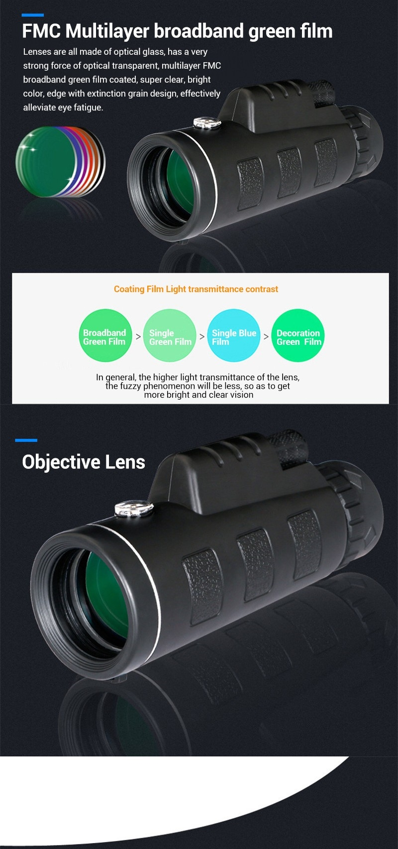 IPRee™ 40x60 Outdoor Travel Portable Monocular HD Clear Vision Optic BAK4 Telescope With Compass
