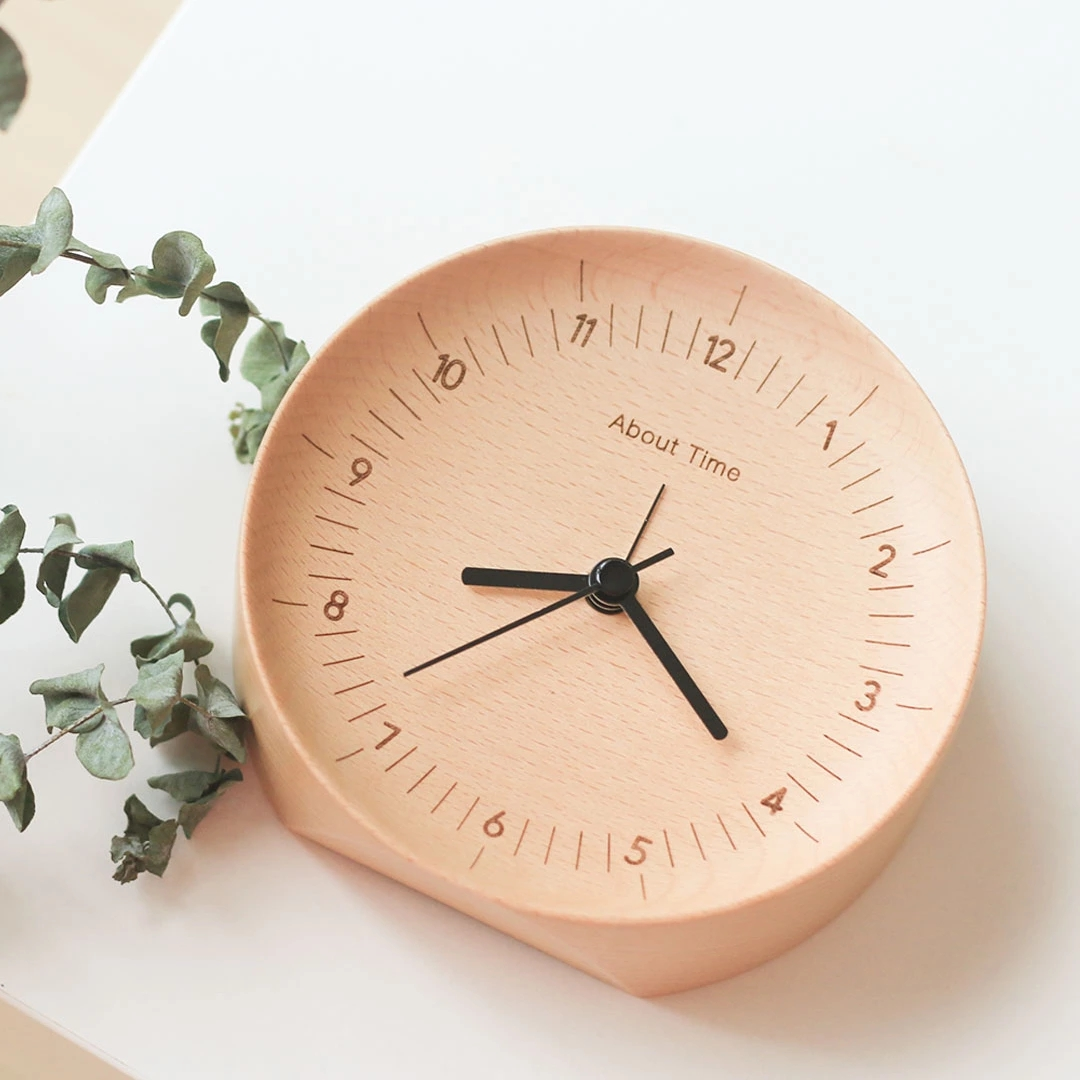 Original Xiaomi Mute Logs Wooden Alarm Clock About Time Quality This Gadget Is A Circuit Board From Recycled Hard Drive Fashionable Table With Metal Pointer