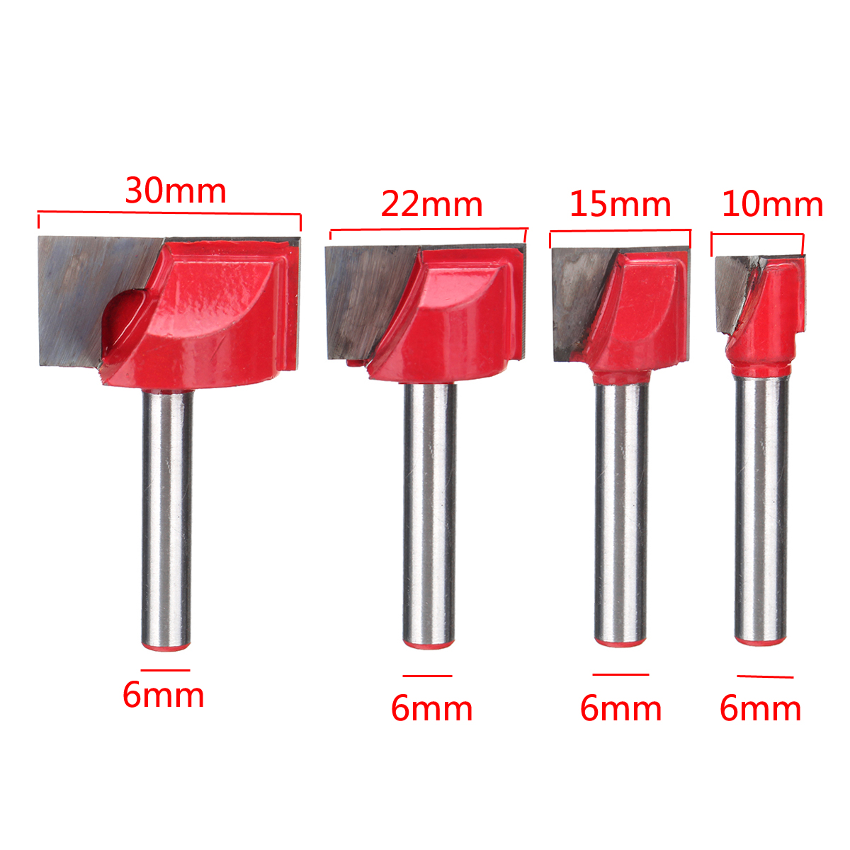 10/15/22/30mm Surface Planing Bottom Cleaning Wood Milling Router Bit For CNC
