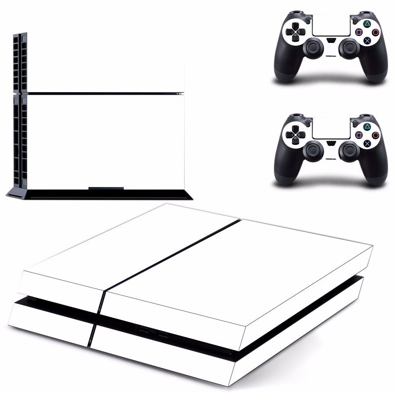 White Skin Sticker for PS4 Play Station 4 Console 2 Controller Protector Skin