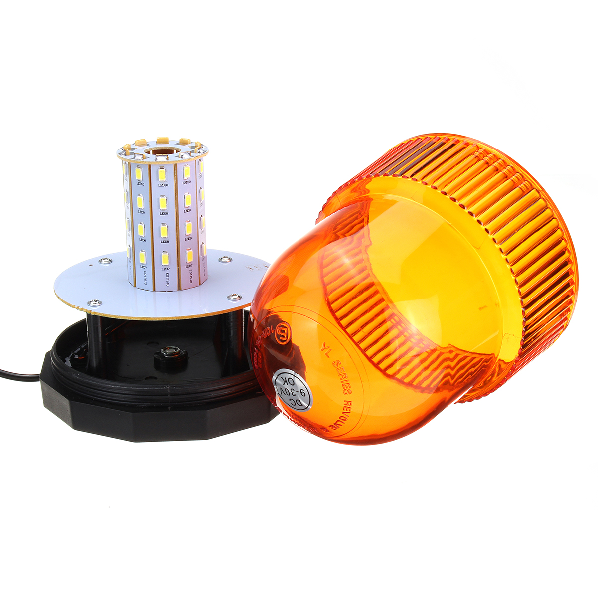 Magnetic Mounting 12V 40 LED Flash Beacon Warning Signal Light For Car Van Truck Tractor Motorcycle