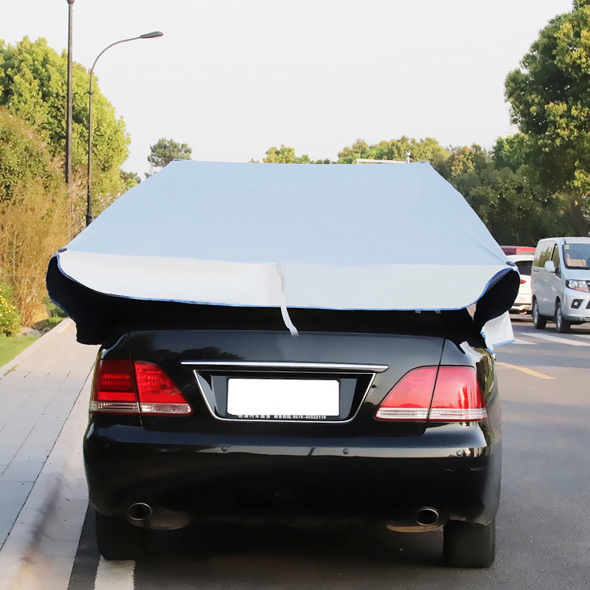 Automatic Car Roof Cover Umbrella Sunshade Tent UV Protection or Triangular Support