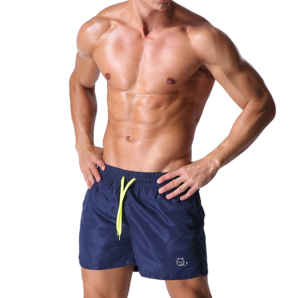 Summer Colorful Quick Drying Tennis Shorts Mens Fashion Light Weight Drawstring Sports Boxer Shorts