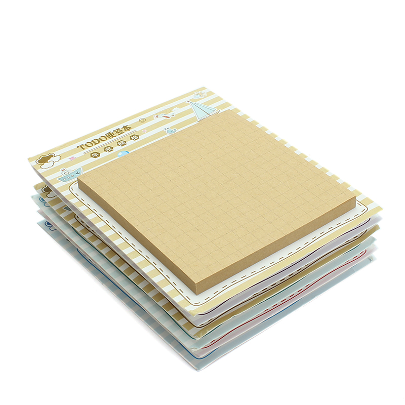 50 Sheets Grid/Line/ToDo List Self-Adhesive Memo Pad Sticky Notes