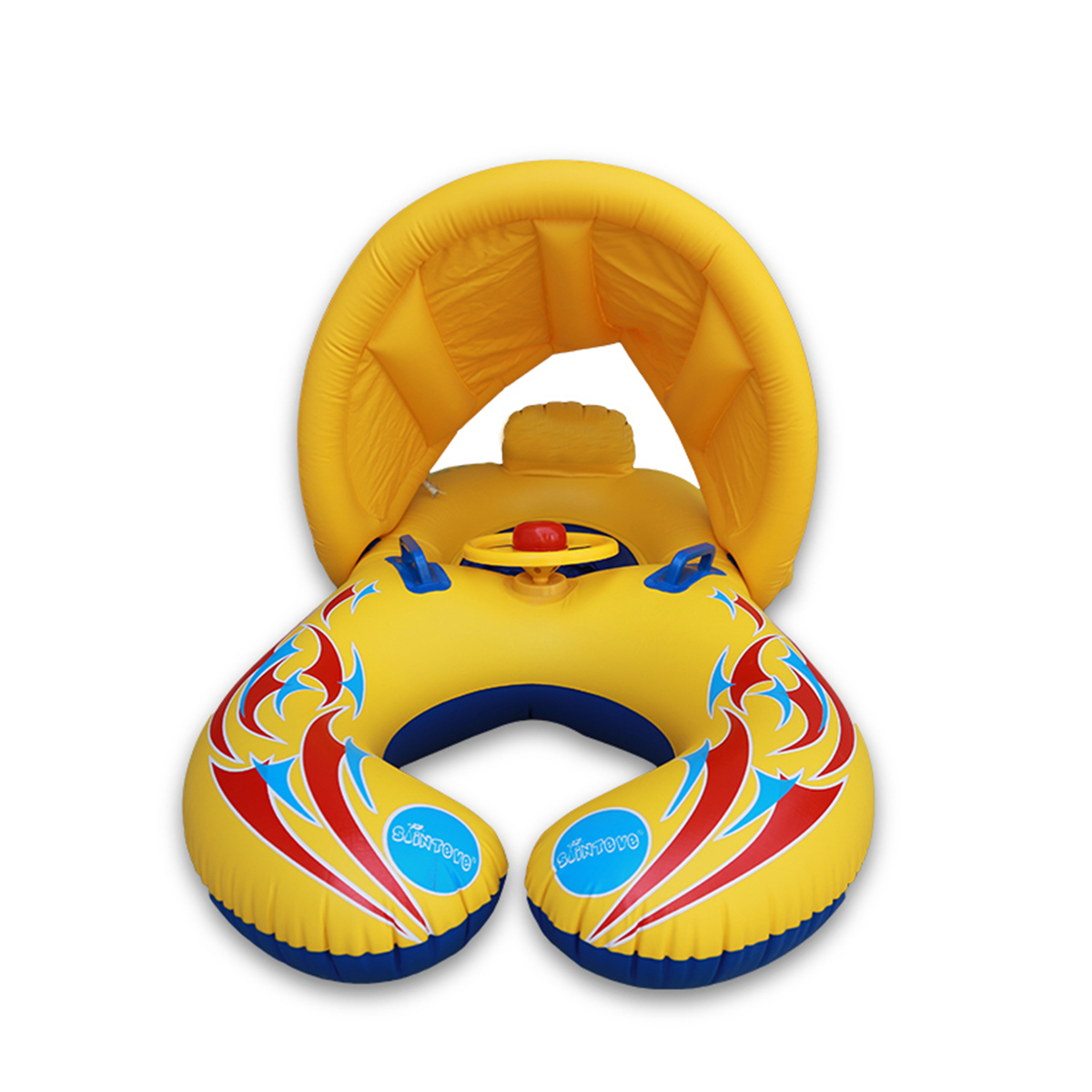 IPRee™ Baby Swimming Pool Water Float Inflatable Children Safety Ring Seat Canopy