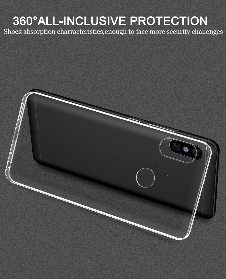 Bakeey Transparent Ultra Slim Soft TPU Protective Case For Xiaomi Redmi Note 6