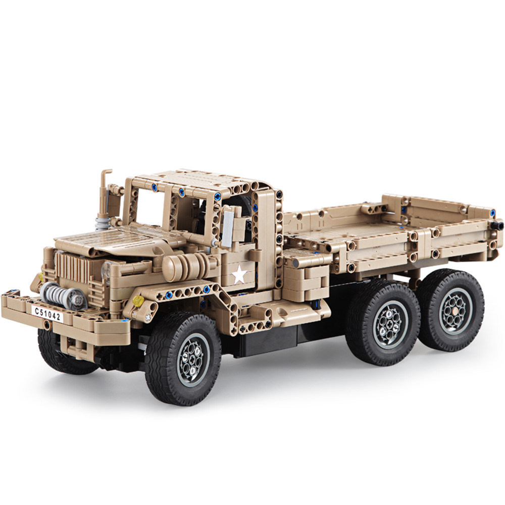 Double Eagle CaDA C51042W 38cm 2.4G 545pcs Building Block Rc Car Military Truck Toy