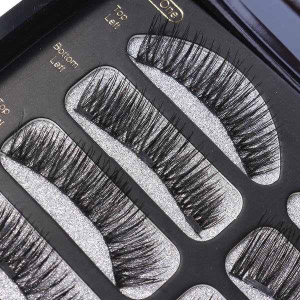 2 Pairs Black Magnetic Eyelashes Handmade Magnets Lashes