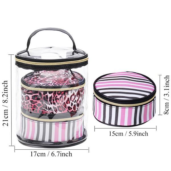 3 Sets Of Transparent Waterproof Wash Bag Travel Storage Bag