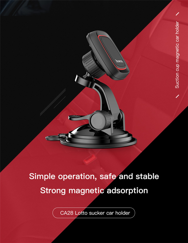 HOCO CA28 Powerful Magnetic Suction Cup Car Dashboard Stand Windshield Holder for Mobile Phone