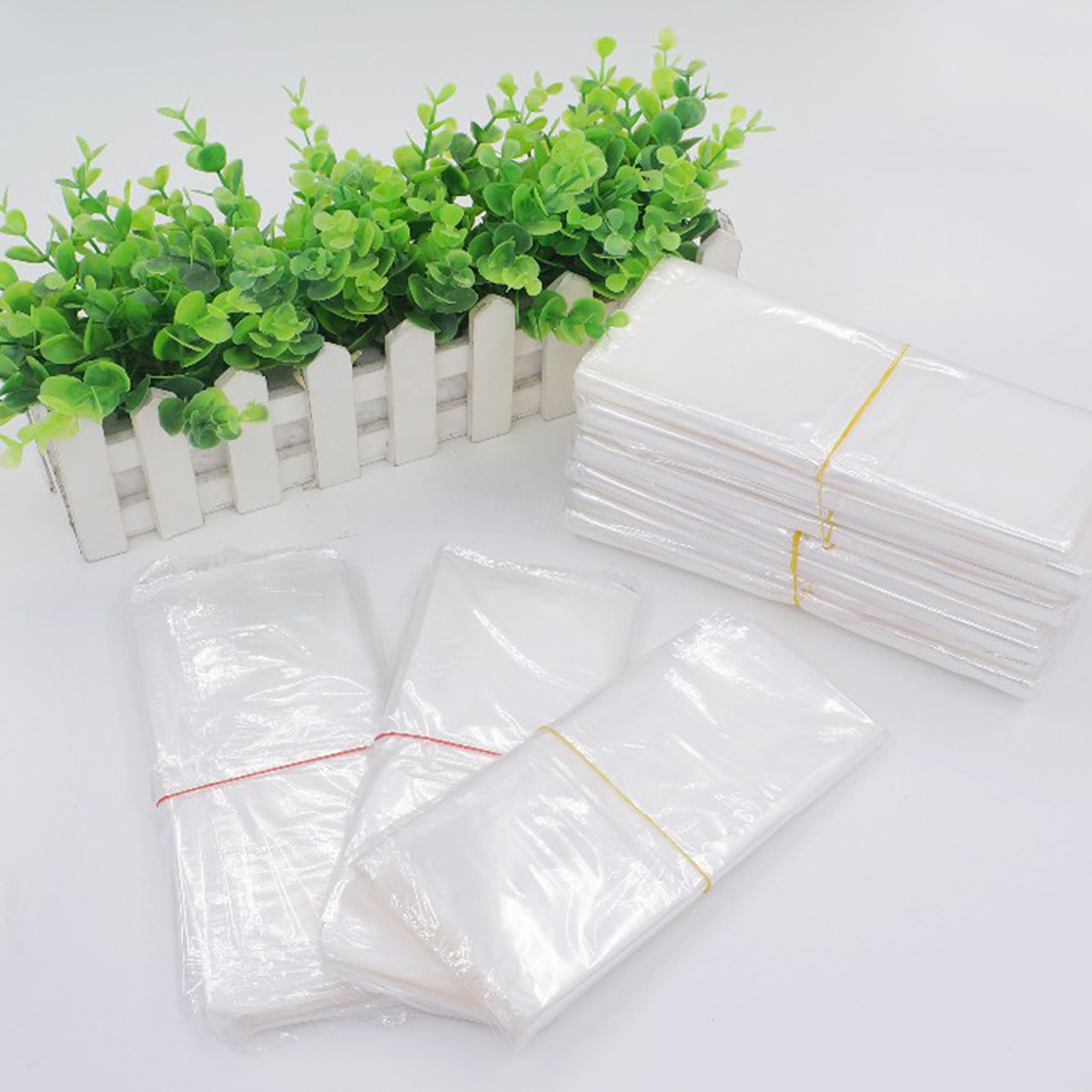 50Pcs 14x20 Inch POF Shrink Film Wrap Bags Transparent Clear Heat Seal Package Bags