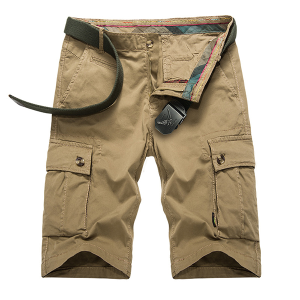Summer Men's Casual Cargo Shorts Outdoor Cotton Baggy Breeches Multi Pocket Pants