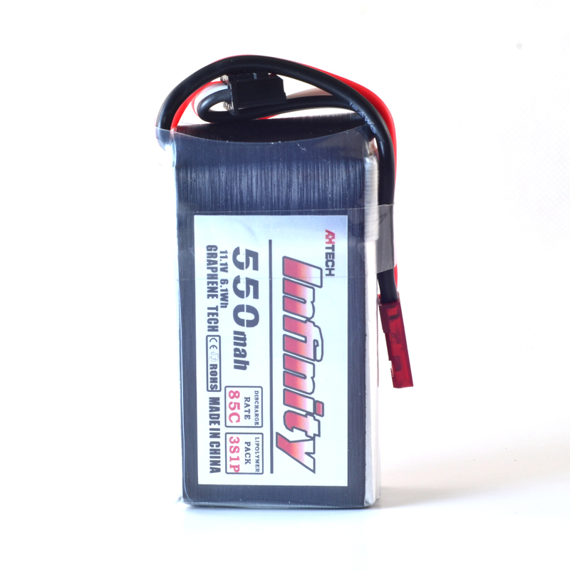 AHTECH Infinity 550mAh 85C 3S 11.1V Lipo Battery 18 silicone line JST Plug for RC Drone FPV Racing