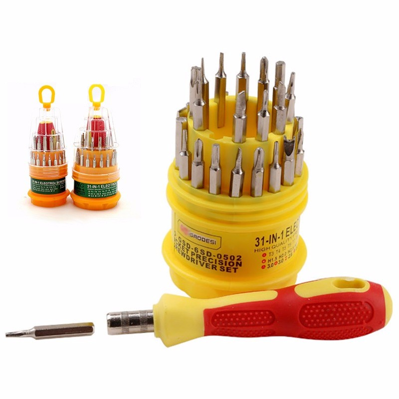 31 in 1 Screwdriver Set Mobile Repair Tool Kit T3 T4 T5 T6 T7 T8 T10 T15 for Phone Tablet Watch PDA