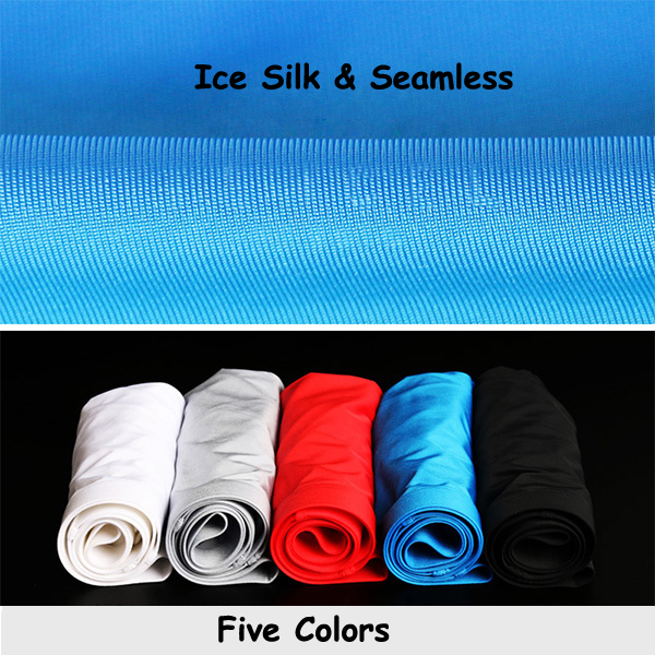 Mens Breathable Ice Silk Seamless Briefs Transparent Thin Sexy Mid Rise Casual Underwear