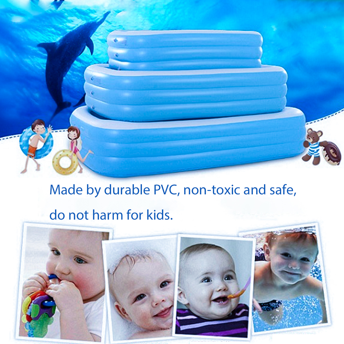 Baby Kid Inflatable Swimming Pool Outdoor Summer Toddler Water Pool