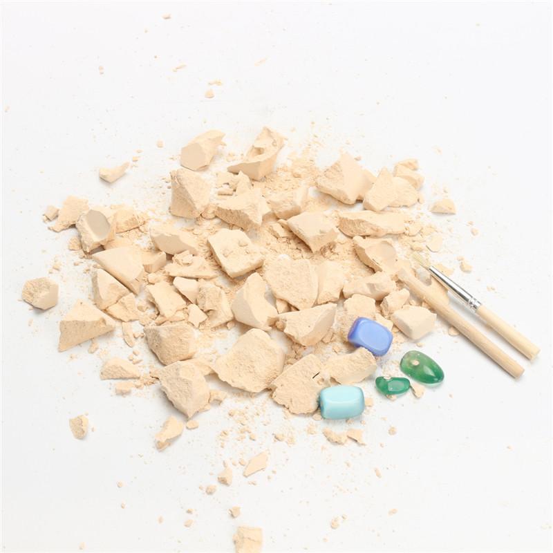 4Pcs Rock & Gem Dig Gemstone Excavation Kit Archaeology Geology Fun Kids Toy Gifts