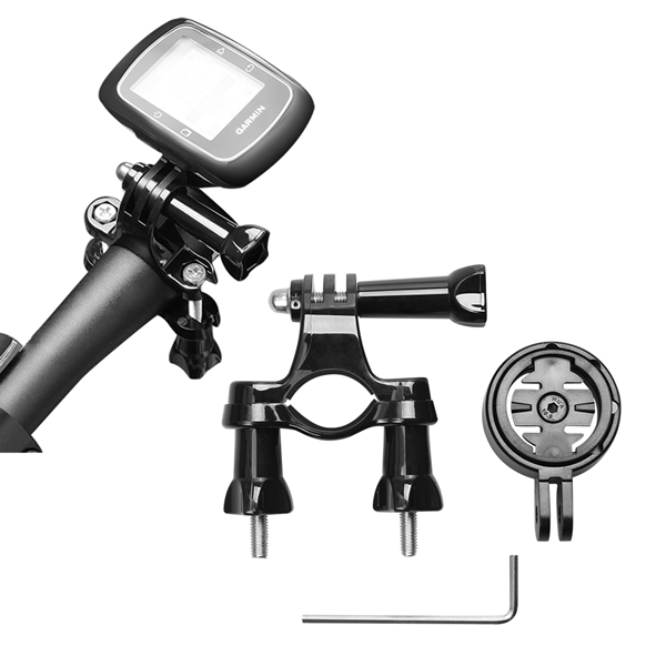 GPS Holder Adapter with Bicycle Handle Bar for Garmin Edge Cycle GPS 25 200 500 510 520 800 810 1000