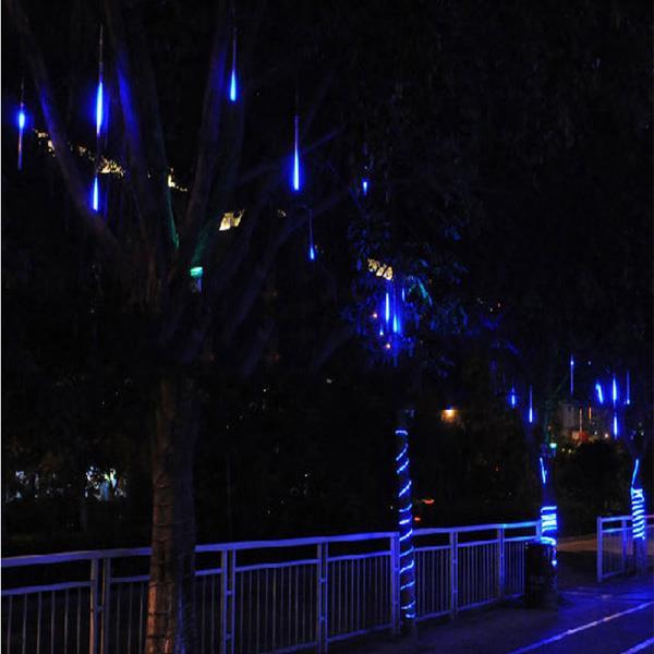 LED Waterproof Meteor Shower Rain Tube Light Snowfall Christmas Lamp Decor Outdoor 100-240V