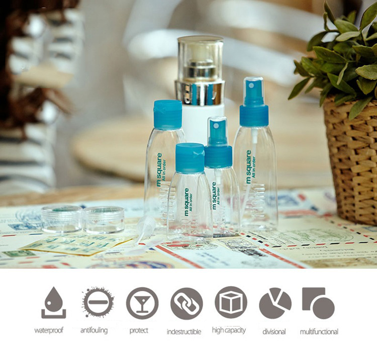 Honana 4Pcs/Set Refillable Cosmetic Points Bottling Packing Bottle Leak Proof Travel Bottles