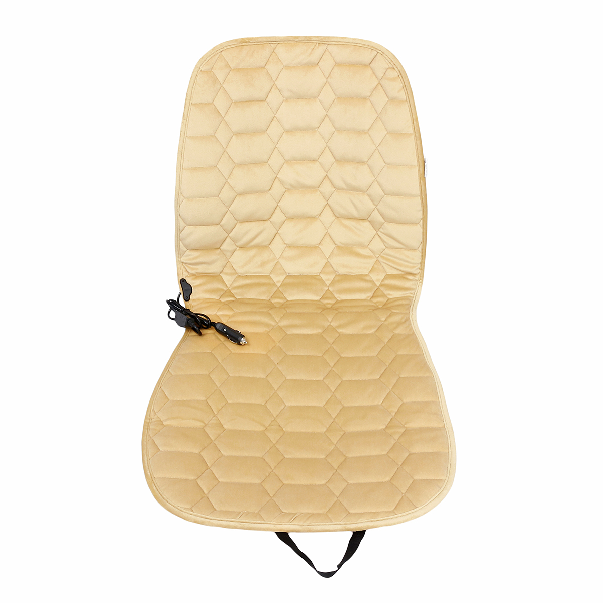 12V Plush Car Heated Seat Cushion Seat Warmer Winter Household Cover Electric Heating Mat