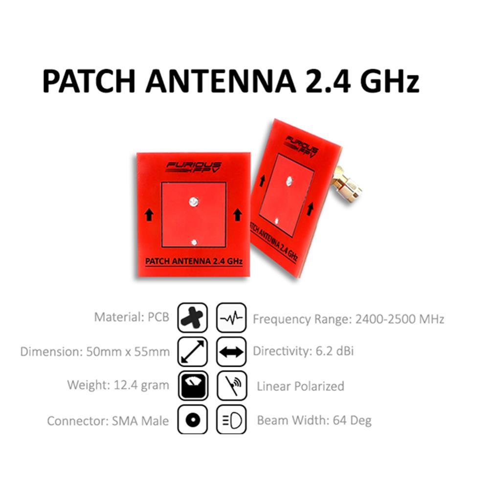 FuriousFPV 2.4GHz 1.3dBi RHCP/LHCP Circular Antenna 6.2dBi Patch FPV Antenna Combo SMA Male