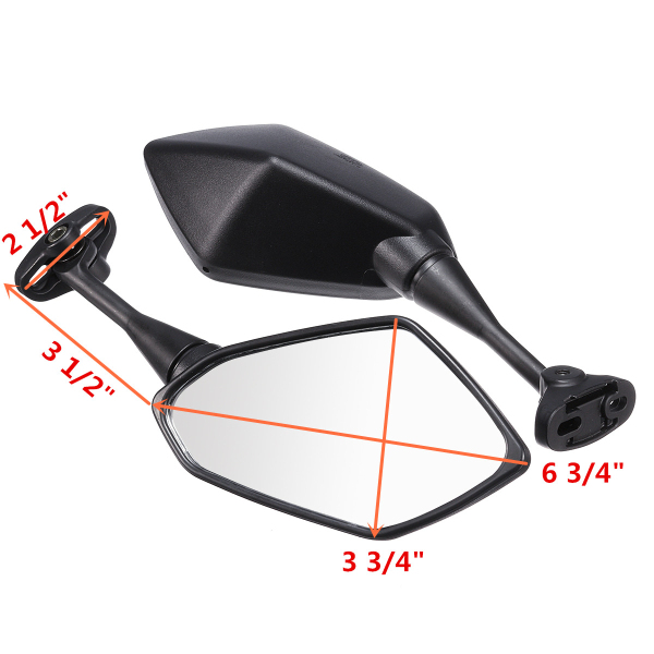 Pair Motorcycle Rear View Side Mirrors For Honda CBR600 F4 F4I 1999-2006 CBR900