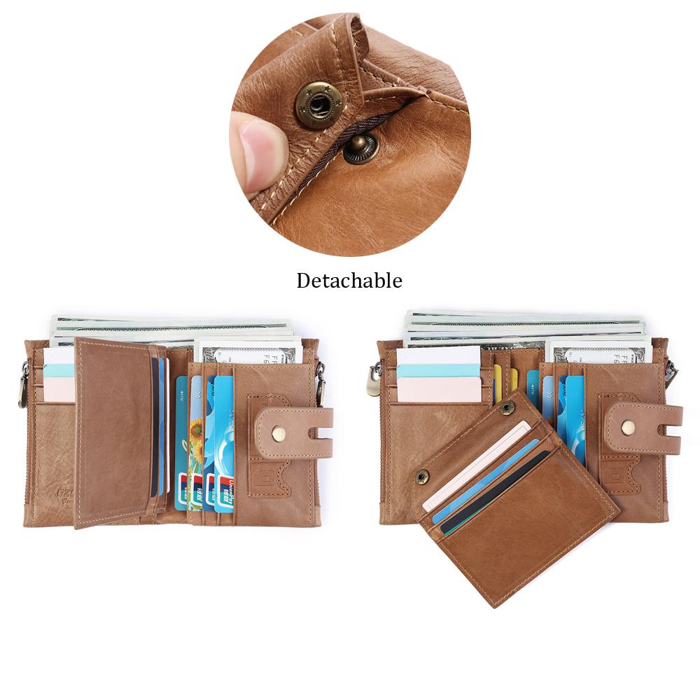 Men Women Retro Genuine Leather Wallet Card Holder