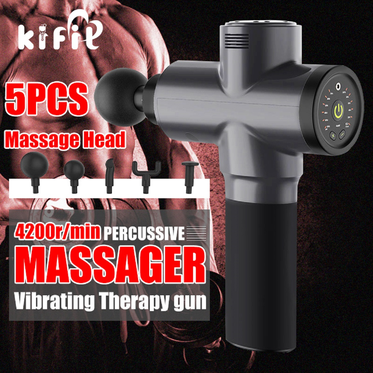 2400mAh Deep Muscle Massager 6 Speed Percussive Vibration