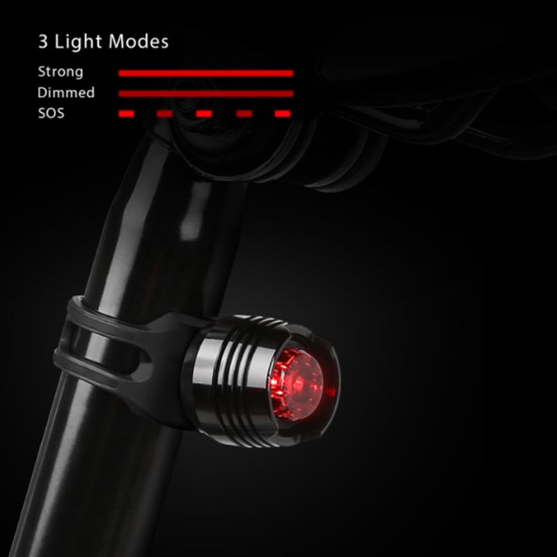 300Lumens 3Modes Bike Bicycle Cycling LED Flashlight Front + Rear Light Set