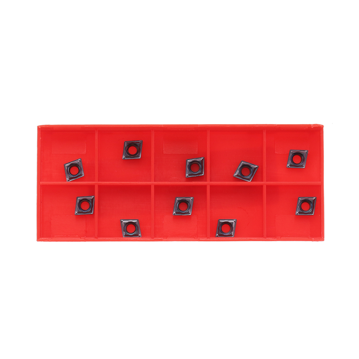 Drillpro 10pcs CCMT060204-SM Carbide Insert for SCLCR Turning Tool Holder