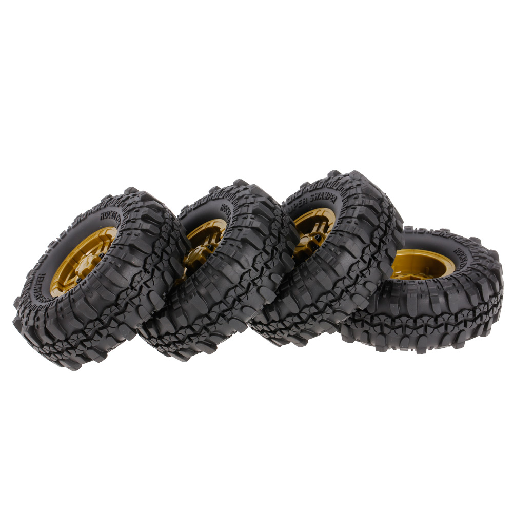 4pcs AUSTAR AX-4020F 1.9 inch 110mm RC Car Tires with Solid Hub For 1/10 Traxxas AXIAL TF2 RC Car - Photo: 4