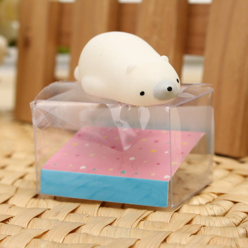 Polar Bear Squishy Squeeze Cute Healing Toy Kawaii Collection Stress Reliever Gift Decor