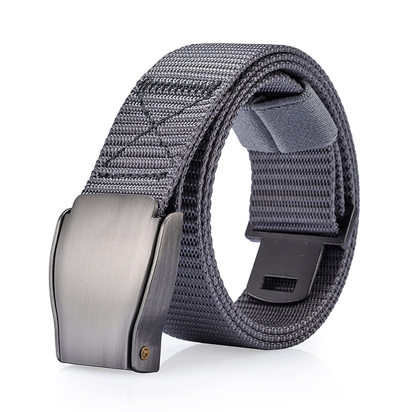 Mens 118CM Automatic Buckle Nylon Belt Sports Army Tactical Pants Strap