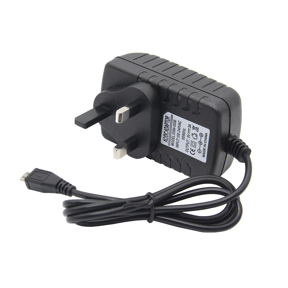 DC 5V 3A UK Plug Power Supply Adapter AC Charger For Raspberry Pi 3 Model B+ /3B/2B/B+