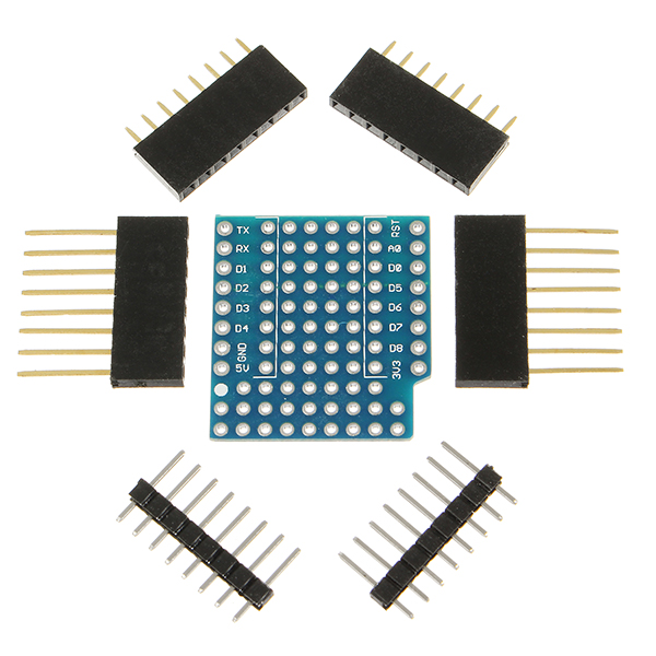 10Pcs WeMos® ProtoBoard Shield For WeMos D1 Mini Double Sided Perf Board Compatible