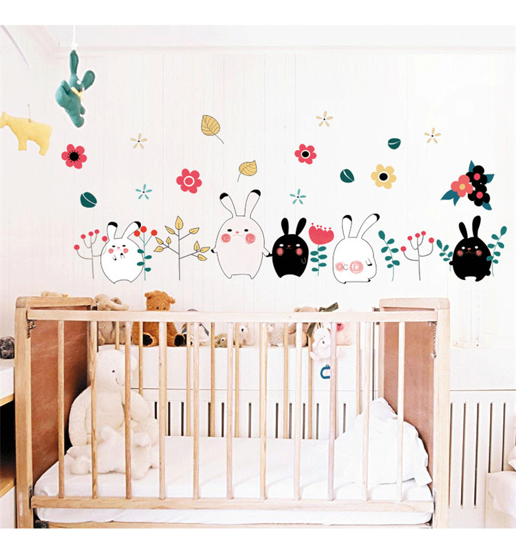 Animal Rabbit Wall Sticker Wallpaper Removable DIY Decal Home Decor Mural Vinyl Art