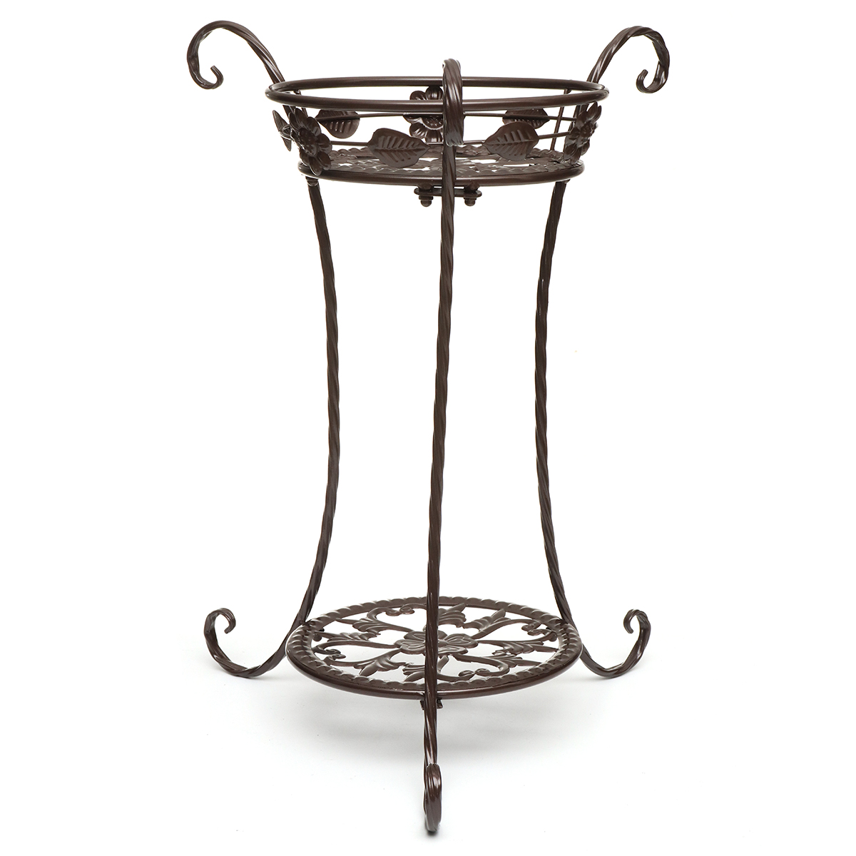 Garden Balcony Indoor Wrought Iron Flower Pot Stand Plants Shelf Rack Holder Shelves