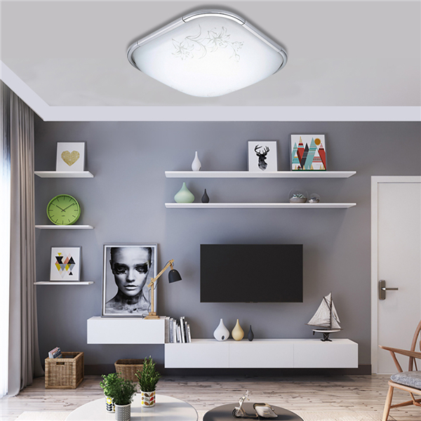 24W Square LED Ceiling Down Light Modern Flush Mount Suction Lamp for Living Room Bedroom AC110-240V