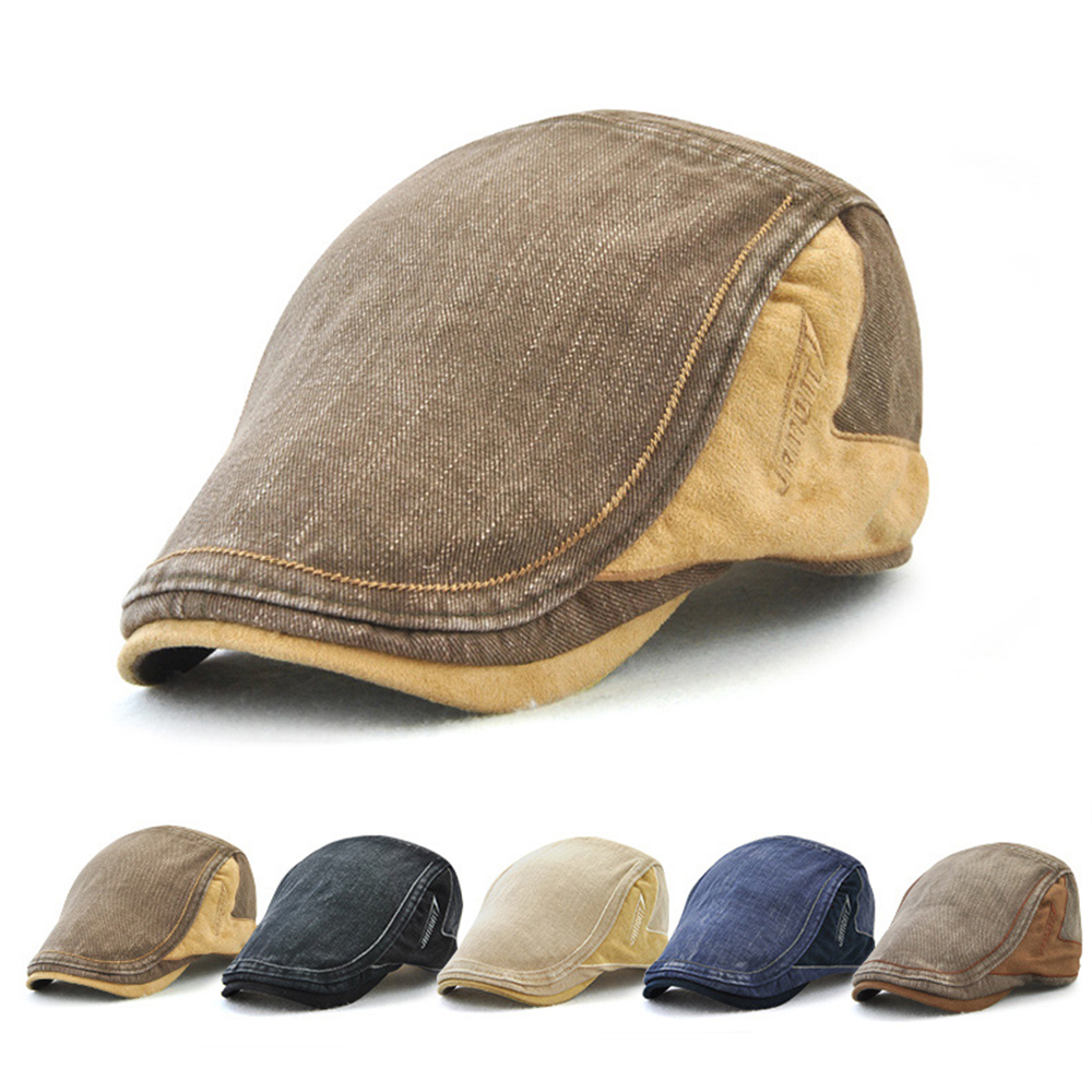 Mens Adjustable Beret Caps Newsboy Hunting Dad Hats