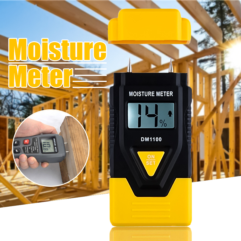 3 In 1 Digital Moisture Meter Garden Wood Paper Hardened Materials Ambient Temperature Testing Tools