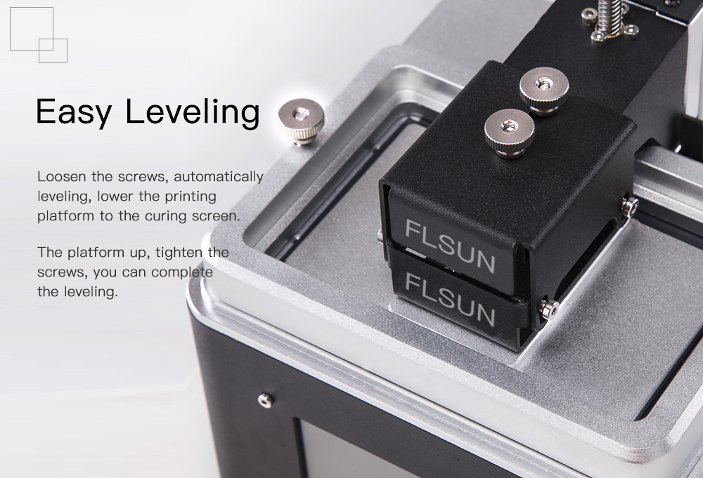 FLSUN_S SLA/DLP 3D Printer 108x65x200mm Printing Size With 4.3inch Touch Screen/Auto Leveling/WIFI Support/Offline Printing