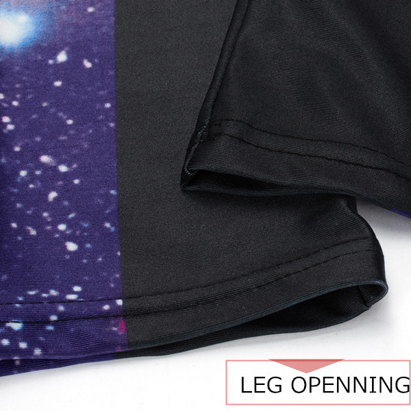 Women 3D Galaxy Print High Waist Yoga Leggings Stretch Trouser Running Gymswear