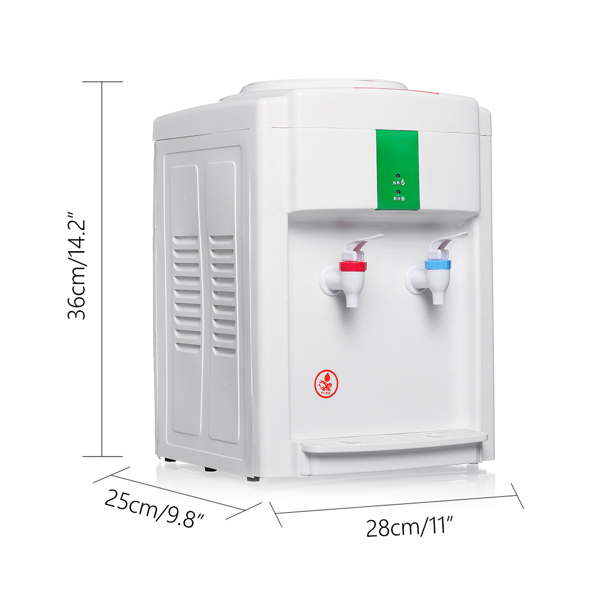 220V Electric Hot Cold Water Cooler Dispenser Filter Purifier 3-5 Gallon Awesome Taste Floor Stand