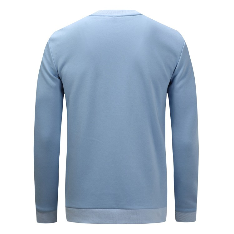 Men's Casual Cotton Patchwork T-shirt Fashion O-neck Long Sleeve Casual Thick Pullover Tops
