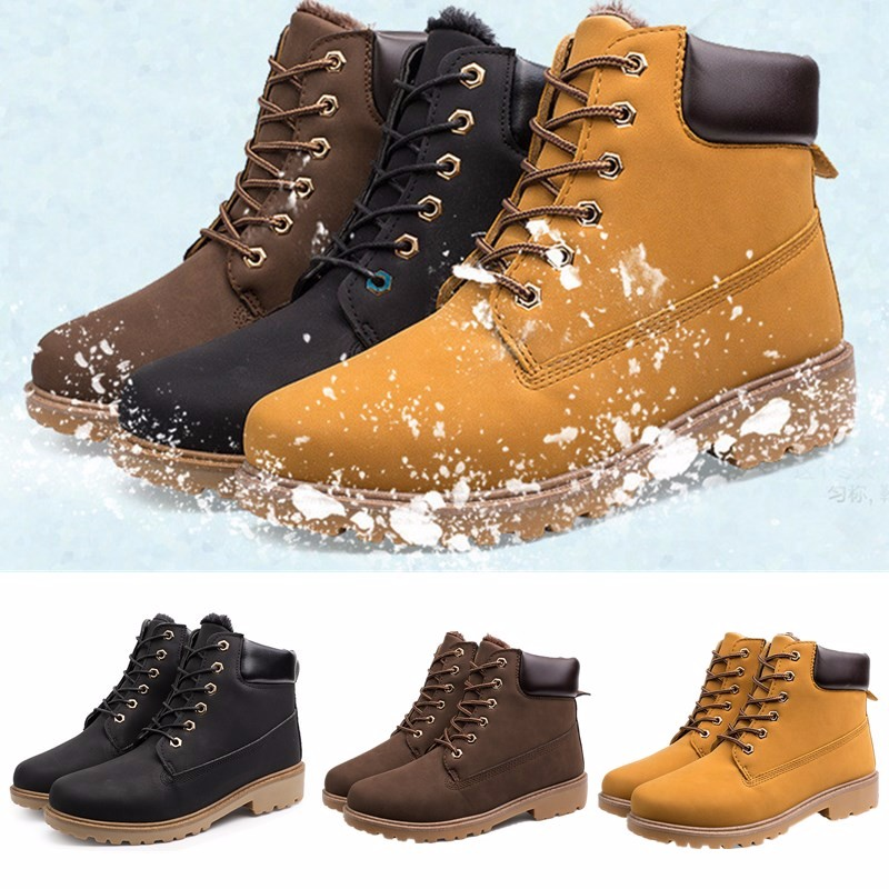 Winter Warmth Mens Fashion Casual Martin Ankle Boots Lace Up Combat Boys Shoes