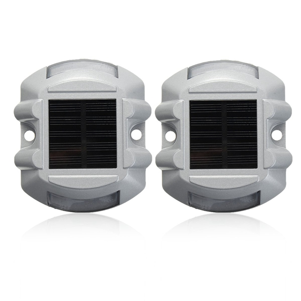 2pcs Solar LED Pathway Driveway Lights Dock Path Step Road Safety Lamps