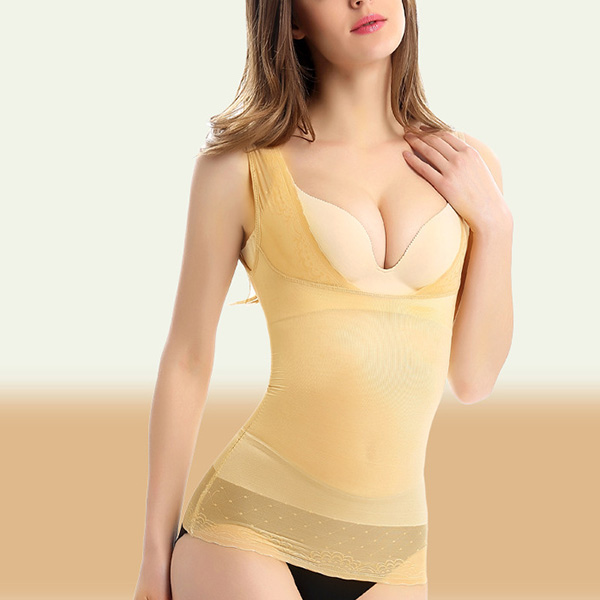 Ice Silk Seamless Slimming Body Shaping Breathable Thin Soft Shapewear Vest